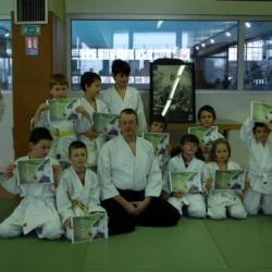 le groupe aikido club ERSTEIN des 6 à 10 ans